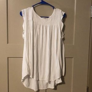 Beautiful Flutter-sleeved White Tank Top